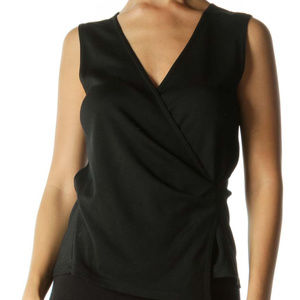 Theory surplice stretch tank top size small black
